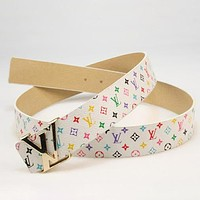 Louis Vuitton LV Woman Men Fashion Smooth Buckle Belt Leather Belt