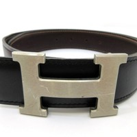 Auth HERMES H Buckle Constance Square B Reversible Belt Size 70 Good Box 54939 B