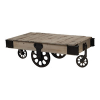 Industrial Coffee Table Wood / Iron
