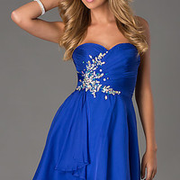 Short Strapless Sweetheart Dress by Alyce Paris