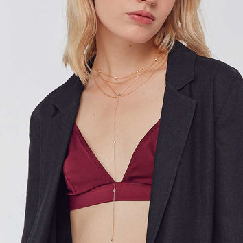 Gabriella Layered Lariat Necklace | Urban Outfitters