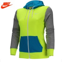 Original Nike female women Hoodie Jacket Chris breathable jacket green blue and grey