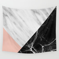 Marble Collage Wall Tapestry by Cafelab