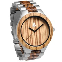 Silver Stainless Zebrawood River