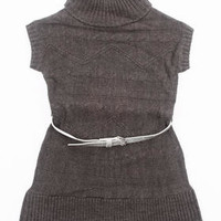 Belted Cable Sweater Dress (4-6x)