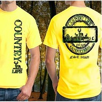 SALE Country Life Outfitters Big Buck Deer Hunt Vintage Unisex Yellow Bright T Shirt