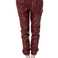 The Later Days Pant in Burgundy