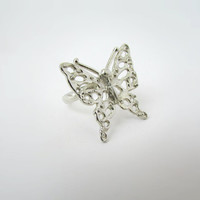 Artistic Ring, Statement Ring, Butterfly Jewelry, Silver Ring, Sterling Butterfly, Cute Ring