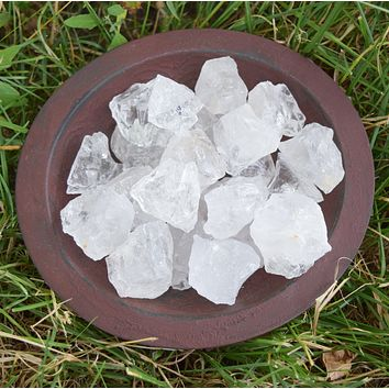 CRYSTAL QUARTZ Raw Crystal Chunk - Clear Ice Quartz Crystal - Crown Chakra Stone