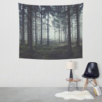 Foggy Forest Aesthetic Wall Hanging Tapestry
