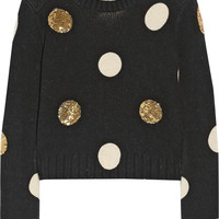 Sass & bide - Between Ordinary embellished cotton and wool-blend sweater