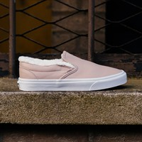 spbest Vans Leather Sherpa Slip-On VA38F7QTR