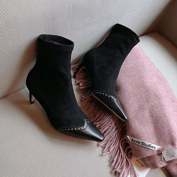 Dior Spectadior Ankle Boot In Stretch Suede Calfskin #729