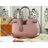 LV Louis Vuitton Women Leather Shoulder Bag Satchel Tote Bag Handbag Shopping Leather Tote