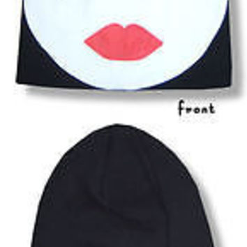 New with tags KISS Gene Simmons face ski mask toboggan knit hat head