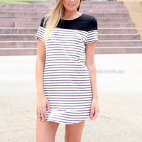 PRE ORDER - WALK THE LINE DRESS (Expected Delivery 10th Febuary, 2015) , DRESSES, TOPS, BOTTOMS, JACKETS & JUMPERS, ACCESSORIES, $10 SPRING SALE, NEW ARRIVALS, PLAYSUIT, GIFT VOUCHER, $30 AND UNDER SALE, SWIMWEAR, SLEEP WEAR, Australia, Queensland, Brisban