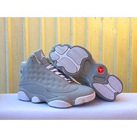 Hot Air Jordans 13 Women Men Shoes Suede Gray