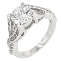 Brilliant Twist Engagement Ring, size : 09