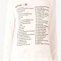 50 Things I Heart Sweater