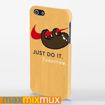 Sloth Just Do It iPhone 4/4S, 5/5S, 5C Series Full Wrap Case