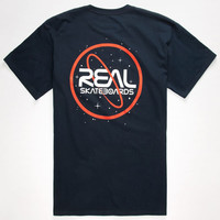 Real Skateboards Space Cadet Mens T-Shirt Navy  In Sizes