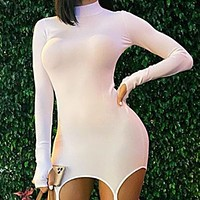 New hot sale finger-pointing dress and buckle tights suit