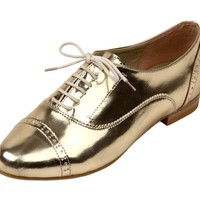 Gold Tap Dance with Bunny Oxfords