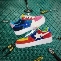 Bape x Nike Air Force 1 '07 LV8 AF1 Low Multicolor - Best Online Sale