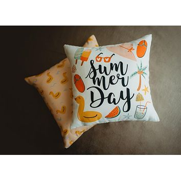 Summer | Vintage | Fun | Summer | Pillow Cover | Home Decor | Throw Pillows | Room Decor | Gift idea | Decorative Pillow | Room Decor
