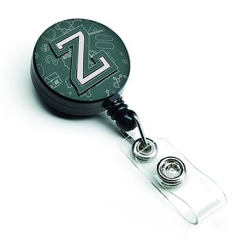 Letter Z Back to School Initial Retractable Badge Reel CJ2010-ZBR