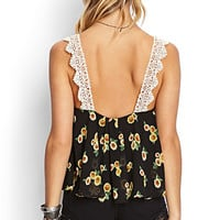 Sweet Sunflower Flounce Top