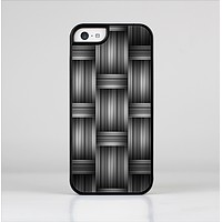 The Black & Gray Woven HD Pattern Skin-Sert Case for the Apple iPhone 5c