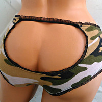 Camouflage Peekaboo bum Lingerie your size underwear your style choice
