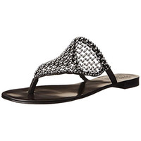 Vince Camuto Womens Leather Jeweled Thong Sandals