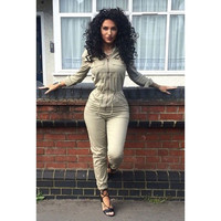 Women Fashion Autumn Slim Long Sleeve Jumpsuits Overalls = 5709564801