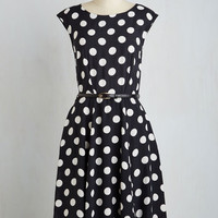 Vintage Inspired Long Short Sleeves A-line See It to Achieve It Dress