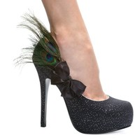 5 Inch High Heel Shoes Peacock Feather Shoes Pumps
