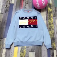 Tommy Jeans Fashion Long Sleeve Pullover Sweatshirt Top Sweater-8