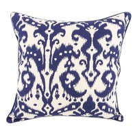 Blue & Beige Ikat Decorative Pillow Cover   Hobby Lobby