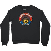 everything is awesome   mens funny lego Crewneck Sweatshirt