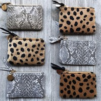 Printed Coin Purse- Multiple Colors
