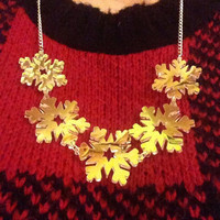Christmas Laser Cut Iridescent Snowflake Necklace
