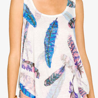 Burnout Feather Tank   FOREVER 21 - 2037962049