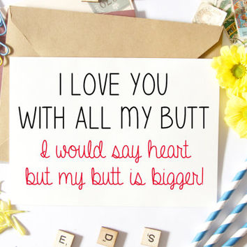 Sexy Valentine Card, For Him, Naughty, Funny, Boyfriend Card, Husband, Anniversary