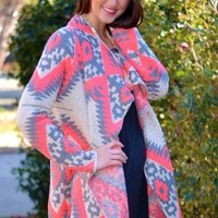 Bright Girl Cardigan in Neon Pink