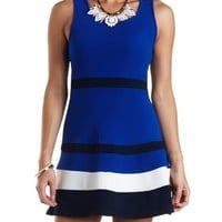 Sleeveless Color Block Skater Dress by Charlotte Russe