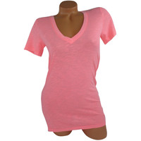 Victoria's Secret PINK Short Sleeve V-Neck T Shirt Sleepwear
