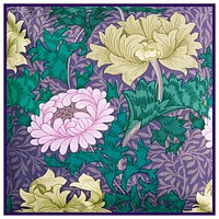 African Daisy design by William Morris Counted Cross Stitch Pattern