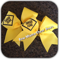 Danger Zone Cheer Bow
