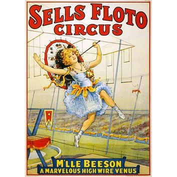 Vintage Circus Poster 24in x36in